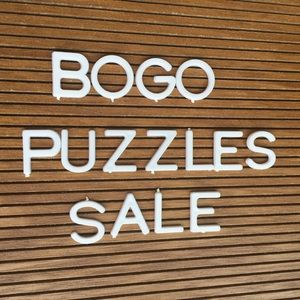 SALE  BUY ONE PUZZLE GET ONE FREE PUZZLE